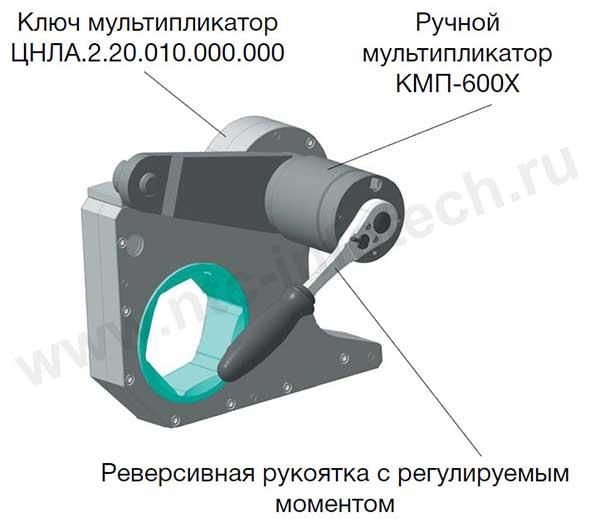 Ключ-мультипликатор с реверсивной рукояткой