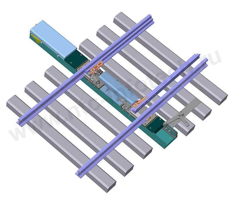 Схема монтажа УПС-160 на стрелочный перевод взамен СП-6М