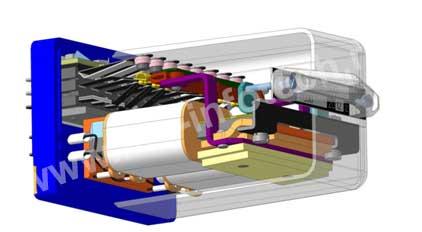 Реле электромагнитное типа М с плоской магнитной системой ПН1-1500